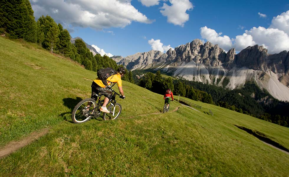 Tour in mountain-bike sulla Plose